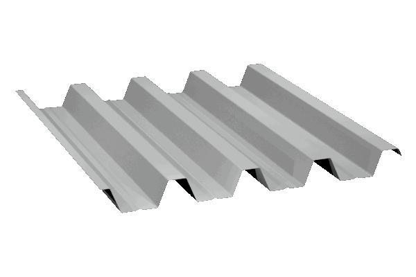 Perfil trapezoidal de gran canto GP-70/210, para cubiertas deck, y chapa curvada autoportante